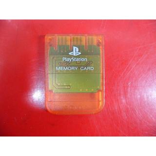プレイステーション(PlayStation)のPS1 SONY PlayStation用メモリーカード (クリアオレンジ)(その他)
