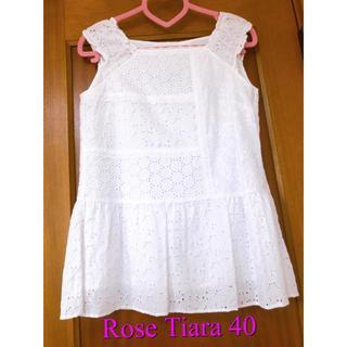 ローズティアラ(Rose Tiara)の❤️Rose Tiara 40サイズ❤️チュニック トップス❤️美品(カットソー(半袖/袖なし))