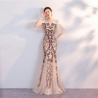 白 ワンピース ウエディングドレスマキシ 二次会 花嫁 前撮 披露宴(ウェディングドレス)