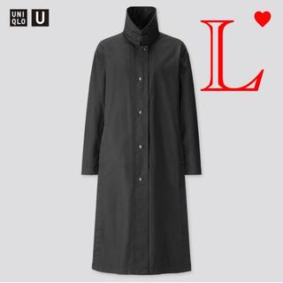 ユニクロ(UNIQLO)の【L】UNIQLO U ユニクロユー ライトロングコート黒L(ロングコート)