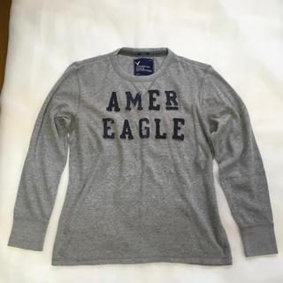 アメリカンイーグル(American Eagle)のMen's アメリカンイーグル 長袖T シャツ 杢グレー L/G(Tシャツ/カットソー(七分/長袖))