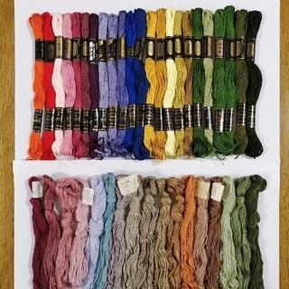オリンパス(OLYMPUS)の刺繍糸 OLYMPUS★40色40本★set  オリムパス 25番 刺しゅう糸(生地/糸)
