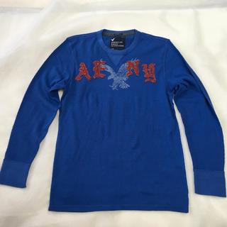 アメリカンイーグル(American Eagle)のMen's アメリカンイーグル 長袖T シャツ ブルー L/G(Tシャツ/カットソー(七分/長袖))