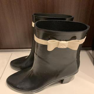ケイトスペードニューヨーク(kate spade new york)のケイトスペード ニューヨークリボンレインブーツ♪(レインブーツ/長靴)