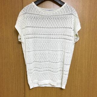 シマムラ(しまむら)の美品♡半袖 サマーニット(カットソー(半袖/袖なし))