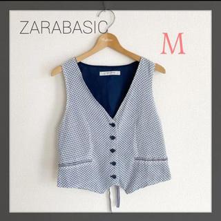 ザラ(ZARA)のZARA BASIC ザラベーシック M 総柄 ベスト ジレ(ベスト/ジレ)
