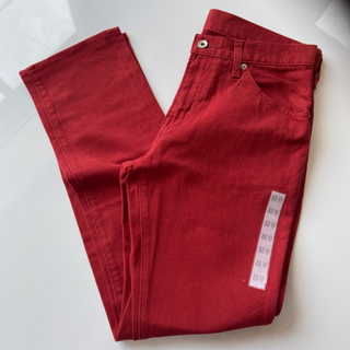 ジーユー(GU)の新品☆GU パンツ 赤 32(その他)