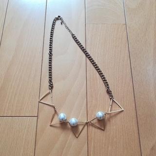 ジーユー(GU)の新品 パールの三角ネックレス(ネックレス)
