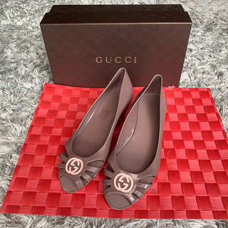 グッチ(Gucci)のようこ様専用  GUCCI  ラバーシューズ    23㎝(レインブーツ/長靴)
