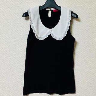 ドーリーガールバイアナスイ(DOLLY GIRL BY ANNA SUI)のDOLLY GIRL BY ANNA SUI 黒襟付きトップス(シャツ/ブラウス(半袖/袖なし))