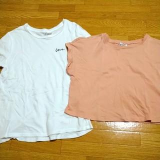 エイチアンドエム(H&M)の【H&M】Tシャツ2点セット(Tシャツ(半袖/袖なし))