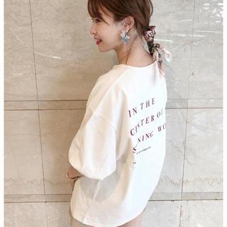 フーズフーチコ(who's who Chico)のchico🌸2020春の新作✨新品タグ付き✨バックロゴT(Tシャツ/カットソー(半袖/袖なし))