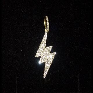 アヴァランチ(AVALANCHE)の⚠️プロフ必読 10K ダイヤモンド ライティングボルト ペンダント(ネックレス)