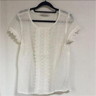 ザラ(ZARA)のザラ チュールTシャツ(Tシャツ(長袖/七分))