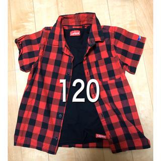 しまむら - 美品 バースデー チェックシャツ他セット 120サイズ