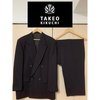 タケオキクチ(TAKEO KIKUCHI)の【超美品 定価14万】TAKEO KIKUCHI スーツ セットアップ ダブル(セットアップ)