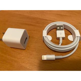 アイフォーン(iPhone)のiPhone 正規品 電源アダプタ ケーブル(変圧器/アダプター)