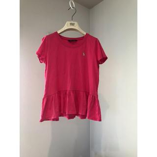 ラルフローレン(Ralph Lauren)のラルフローレン フリル ピンク トップス (Tシャツ/カットソー)