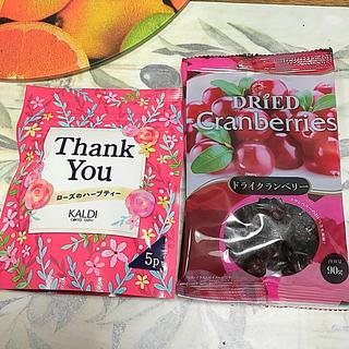 カルディ(KALDI)のカルディ ローズのハーブティー & ドライクランベリー(茶)
