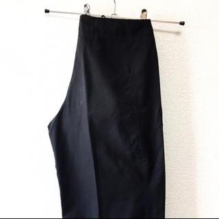ジルサンダー(Jil Sander)の【Mode】JIL SANDER イタリア製 ワイド スラックスパンツ ブラック(カジュアルパンツ)