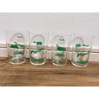 メイジ(明治)の希少✨昭和レトロ明治ハネーヨーグルトノベルティグラス(グラス/カップ)