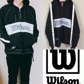 ウィルソン(wilson)の90's wilson ウィルソン ナイロンジャケット アノラック ハーフジップ(ナイロンジャケット)