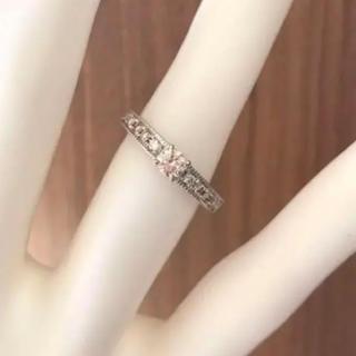 天然ピンクダイヤモンドリング/ハーフエタニティリング(リング(指輪))