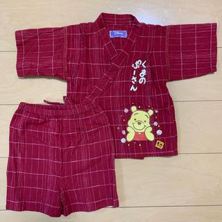 ディズニー(Disney)のベビー服 プーさん 甚平 浴衣 100(甚平/浴衣)