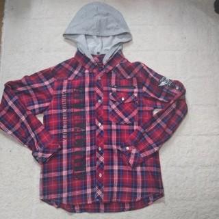 シマムラ(しまむら)の男の子 フード付ブラウス チェック 160 春服 (ブラウス)