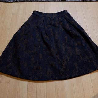 アルファキュービック(ALPHA CUBIC)の台形スカート 柄スカート(ひざ丈スカート)