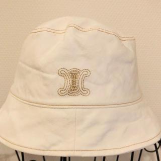 セリーヌ(celine)の正規品 CELINE KIDS 帽子 (52㎝)(帽子)