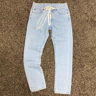 オフホワイト(OFF-WHITE)のOFF-WHITE メンズ スリム 5ポケット ジーンズ パンツ 正規品(デニム/ジーンズ)