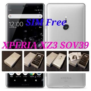 ソニー(SONY)の【SIMフリー/新品未使用】au Xperia XZ3 SOV39/ホワイト(スマートフォン本体)