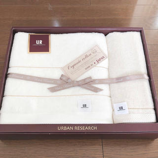 アーバンリサーチ(URBAN RESEARCH)の【新品】アーバンリサーチ 2枚組 タオルセット(バスタオル・ウォッシュタオル)(タオル/バス用品)