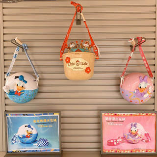 ディズニー(Disney)の上海ディズニー ポップコーンバケツ ケース チップデール ダッフィー ドナルド(キャラクターグッズ)