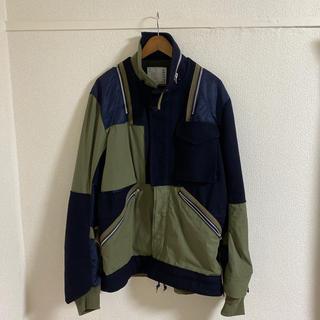 サカイ(sacai)のsacai 18aw カラーブロックドッキングジャケット(ミリタリージャケット)