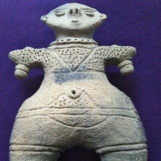 きなこ様 縄文晩期『遮光器土偶』出土品。古墳遺跡。25.5cm。大きい土偶です。(彫刻/オブジェ)