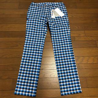 マンシングウェア(Munsingwear)の【新品2.5万】マンシング Munsingwear 高機能チェック柄パンツ 9号(ウエア)