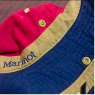 マーモット(MARMOT)のマーモット ハット アウトドア メンズ Lサイズ 赤 青(ハット)