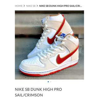 ナイキ(NIKE)のnike sb dunk high pro 28センチ(スニーカー)