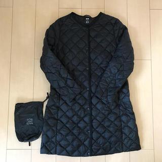 ユニクロ(UNIQLO)のユニクロ 女性XL ウルトラライトダウン インナーダウンコート ロング丈 黒(ダウンコート)