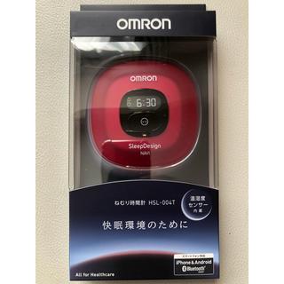 オムロン(OMRON)のオムロン ねむり時間計 レッド HSL-004T-R(その他)