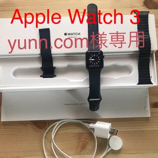 アップルウォッチ(Apple Watch)の専用 APPLE WATCH3 38mm アップルウォッチ3 複数ベルト付(スマートフォン本体)