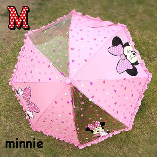 ディズニー(Disney)の新品 ! ミニー 傘 M 雨傘 ジャンプ キッズ 子供 女の子 入学 園児 (傘)