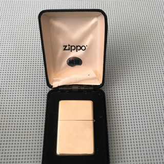 ジッポー(ZIPPO)のzippo 純銀製(タバコグッズ)
