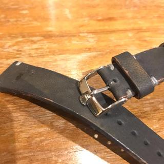 ロレックス(ROLEX)の純正品アンティークステンレス尾錠と未使用アンティーク仕様20mmレザーバンド(レザーベルト)