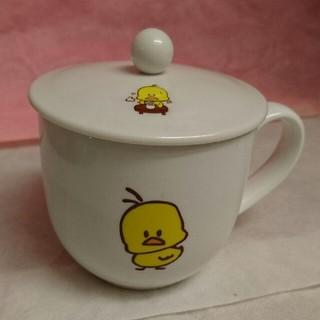 ニッシンショクヒン(日清食品)のヒヨコちゃん 蓋付きマグカップ(食器)