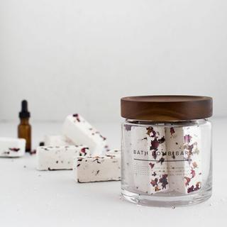 マークスアンドウェブ(MARKS&WEB)のhandmade🍋レモングラスの香り オーガニックローズバスボム バスソルト付(入浴剤/バスソルト)