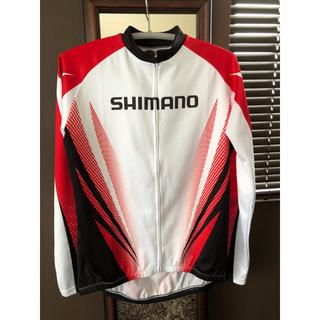 シマノ(SHIMANO)のシマノ サイクルジャージ メンズL   1度着用 秋冬用(ウエア)