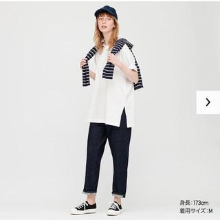 ユニクロ(UNIQLO)のUNIQLO コットンリラックススリットチュニック (Tシャツ(長袖/七分))